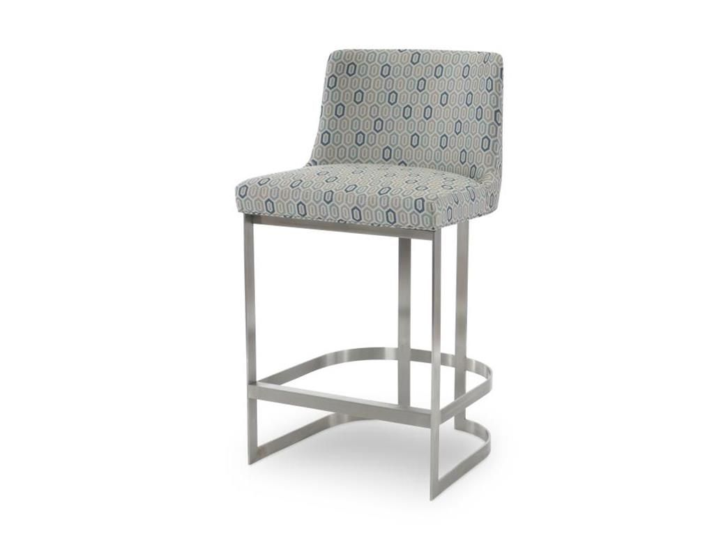 Century Furniture Bar and Game Room Copenhagen Stainless Bar Stool