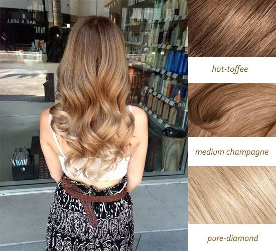Love This Beautiful Sun Kiss Hair Color With Hot Coffee Medium Champagne And Pure Diamond Colors