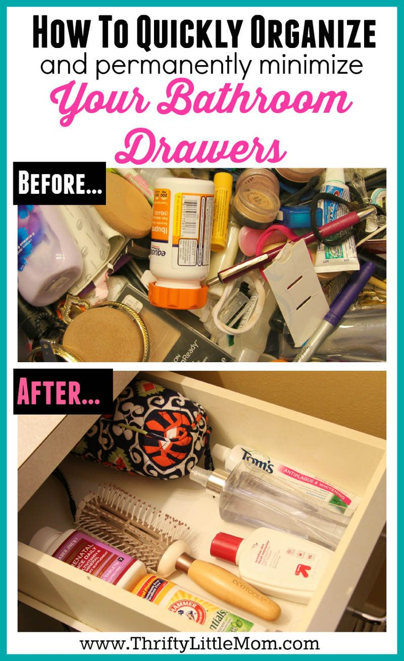 Quickly Organize Your Bathroom Drawers Bathroom Drawer Organization Bathroom Drawers And