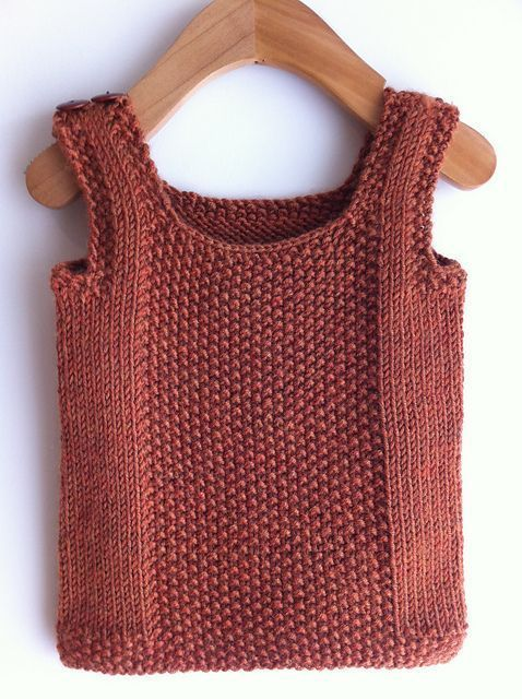 Photo of Knitted from the bottom up, this is a simple vest for the little ones in …