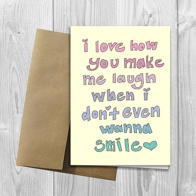PRINTED I Love You More Than Tacos 60x60 Greeting Card Cute Funny Extraordinary You Make Me Laugh When I Dont Even Want To Smile