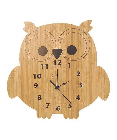 Another great find on #zulily! Bamboo Owl Wall Clock #zulilyfinds