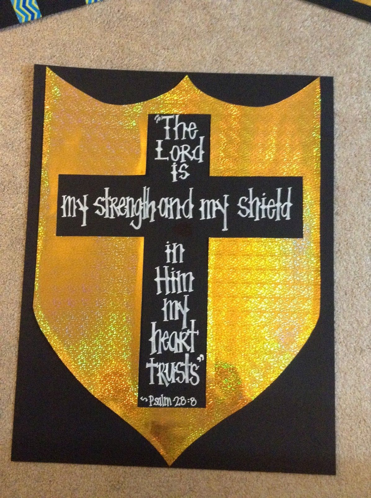 look to him and be radiant armor of god decorations book fair