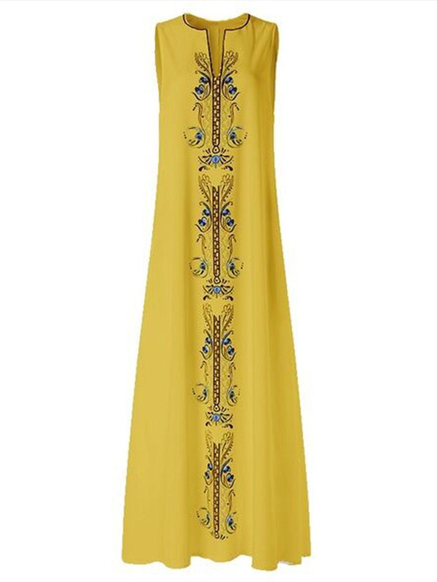 Wodstyle Tuscom Women S Plus Size Floral Sleeveless Loose V Neck Party Maxi Dress Walmart Com Vintage Maxi Dress Maxi Dress Party Retro Print Dresses [ 2000 x 1500 Pixel ]