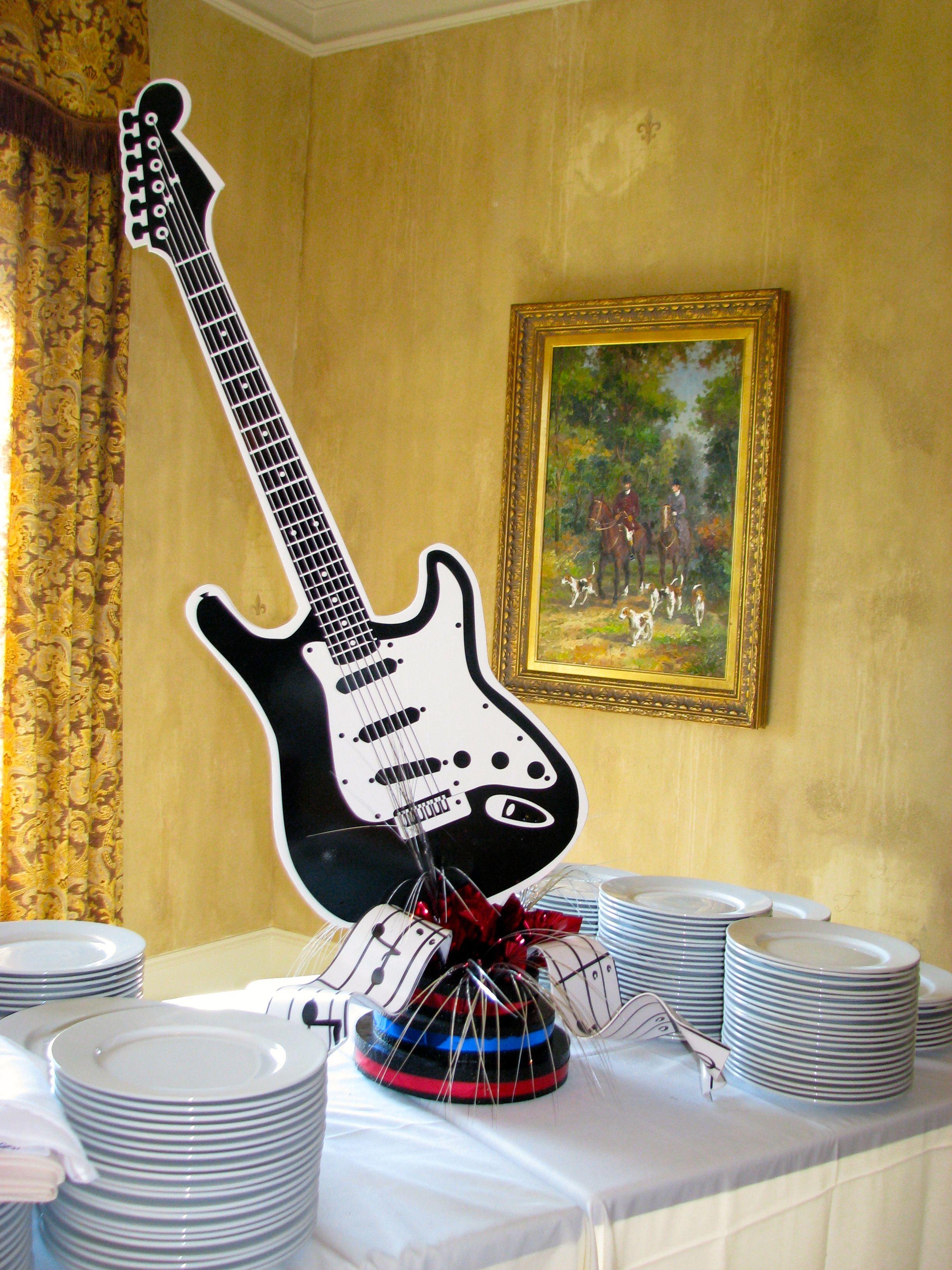 Rock n\' Roll Buffet Centerpiece | Fundraiser [American Bandstand ...