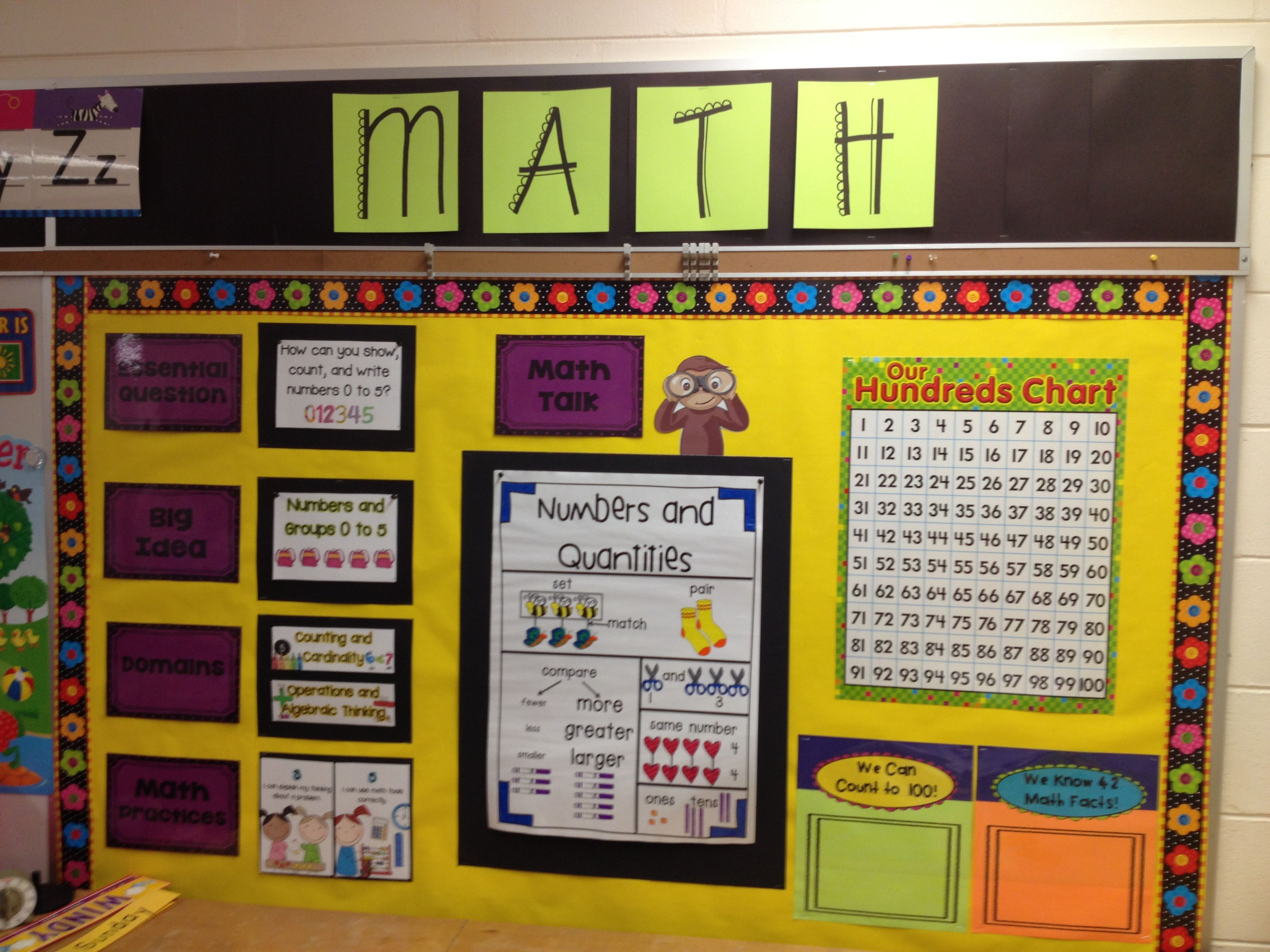 Kindergarten Calendar Wall : Best math focus walls ideas on pinterest