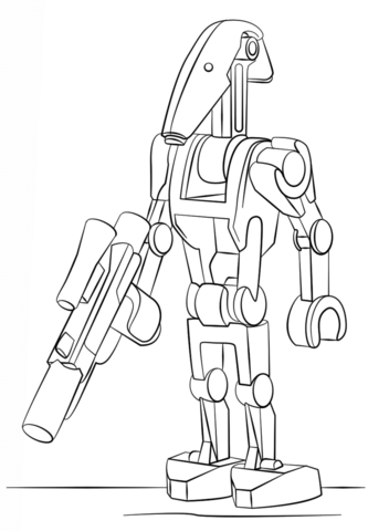 Lego Battle Droid Coloring Page Lego Coloring Pages Star Wars Colors Star Wars Coloring Sheet