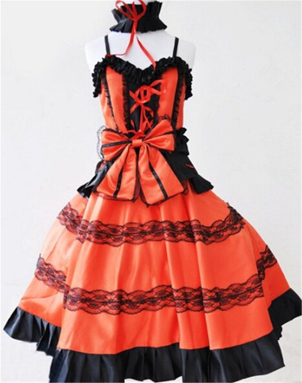 Vicwin-One Date A Live Tokisaki Kurumi Cosplay Costume * Find out more about the great product at the image link.