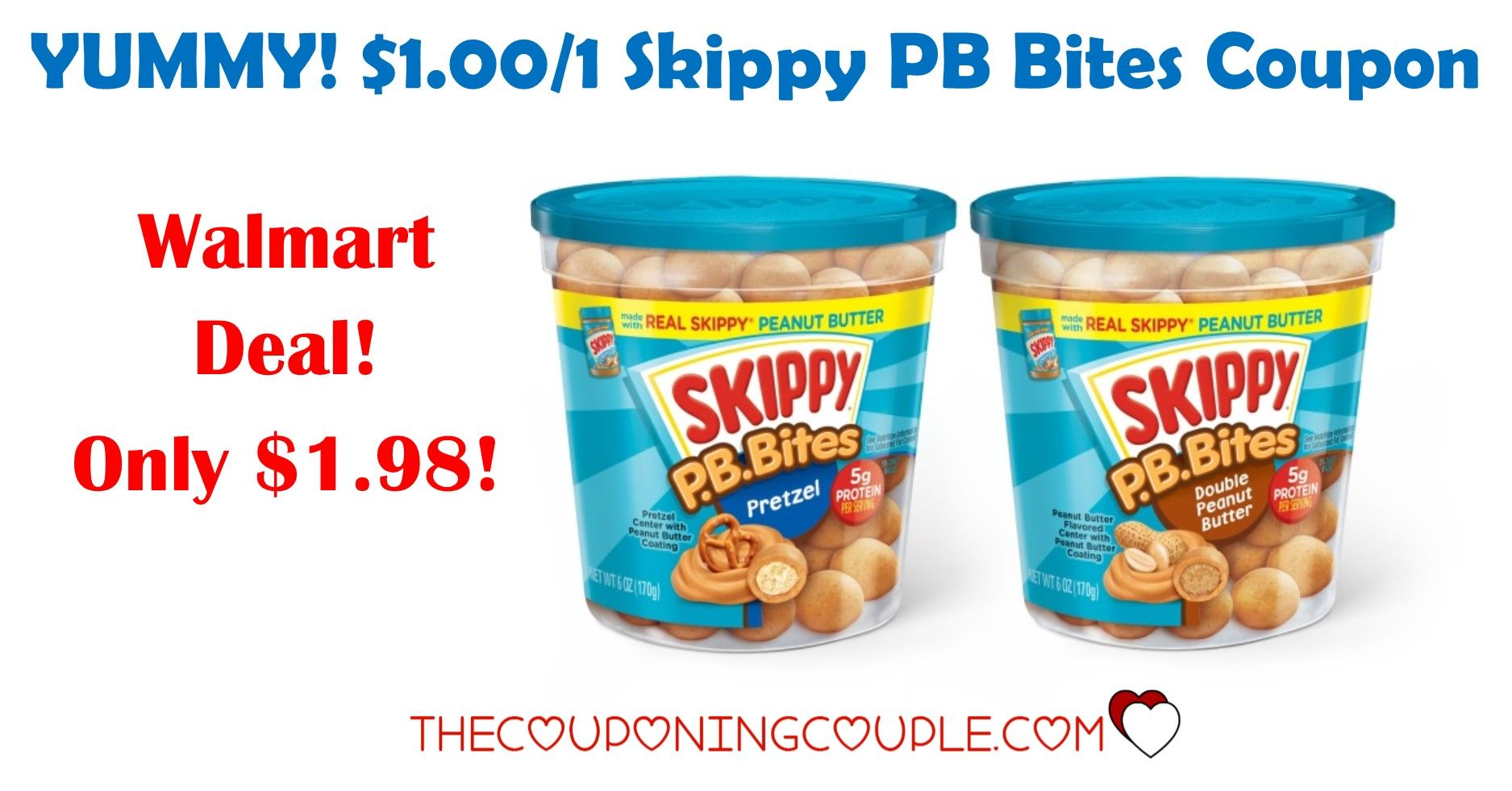 YUM! Skippy PB Bites! Only 1.98 with Walmart Deal