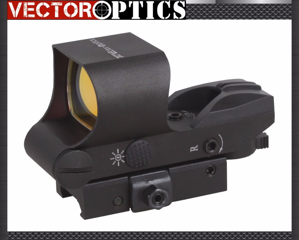 59.99$  Buy now - http://ali638.worldwells.pw/go.php?t=502136646 - Free Ship Vector Optics 1x28x40 Tactical Multi Reticle Red Dot Scope Sight with quick assembly detachable QD 21mm Weaver Baser