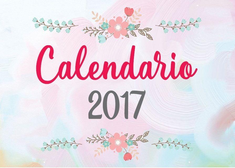 Calendario imprimible 2018 planificador semanal mensual - Agenda imprimible 2017 ...