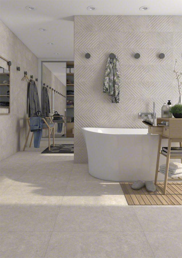 Bathroom  bao en tonos crema  VIVES  Pavimento