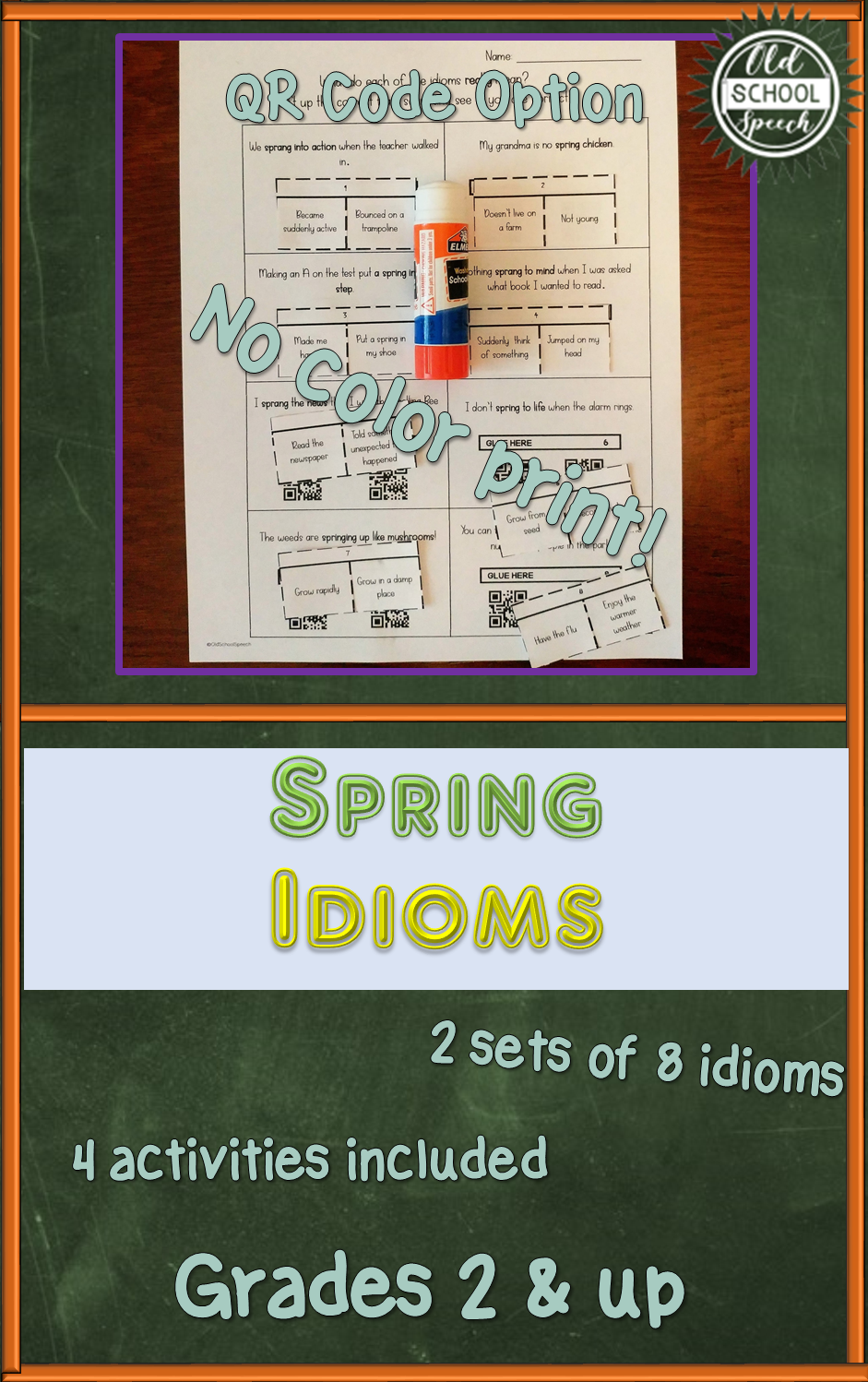 Spring Idioms for Second Grade and Up   Idioms [ 1498 x 941 Pixel ]