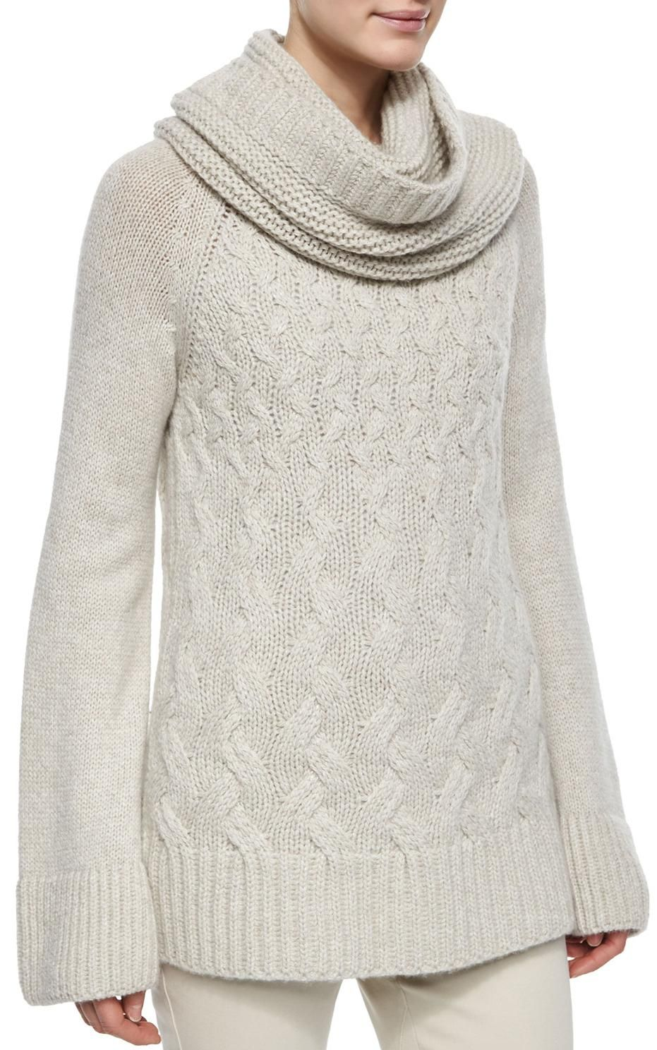 Loro Piana - cashmere chunky cable knit sweater | 3A - sweaters ...
