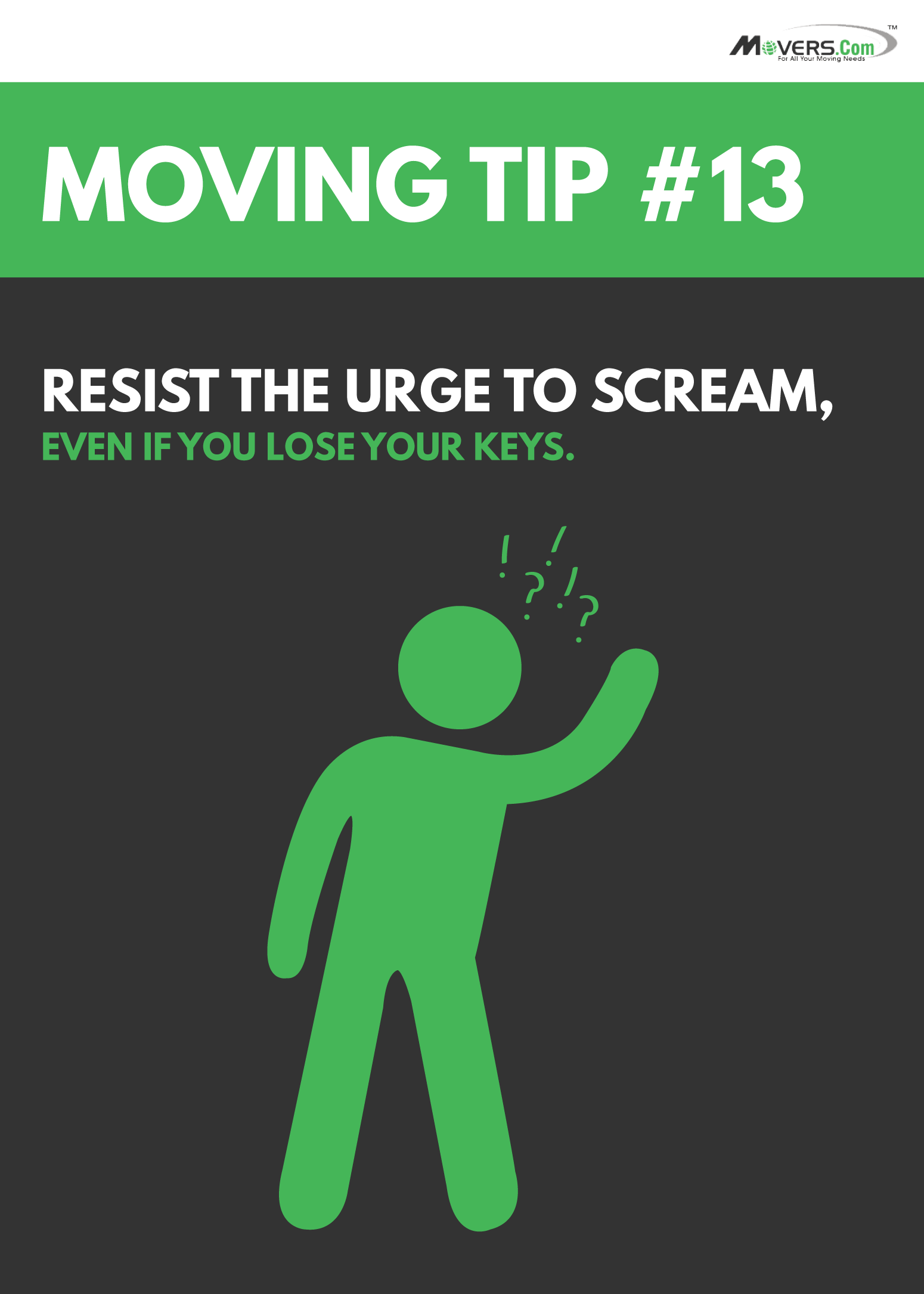 Movers.com - Moving Tip #13: Don't lose your cool... or your keys.