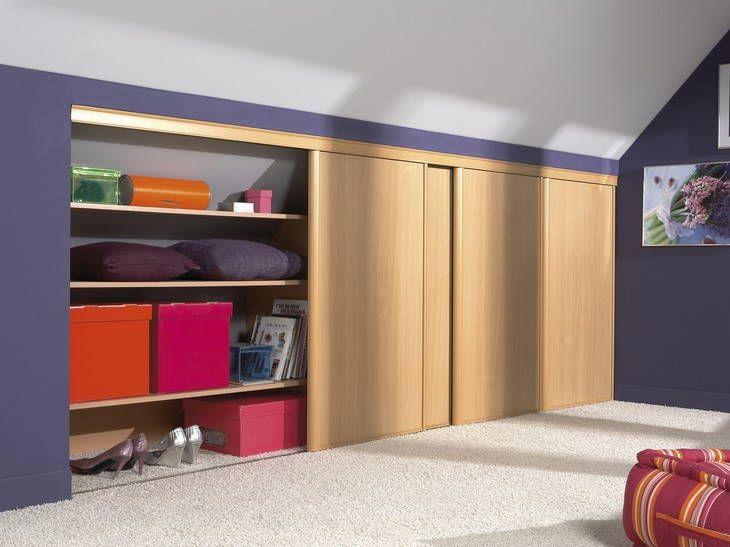 Des Rangements Sous Pente Leroy Merlin Attic Storage Loft Room Loft Storage