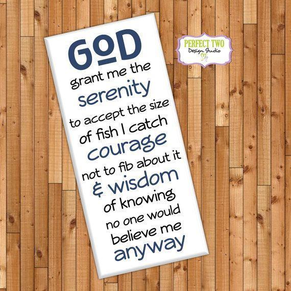 fish serenity prayer  fisherman sign  by Perfect2DesignStudio