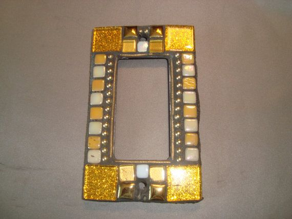 decora wall plates keystone wall sparkle mosaic outlet cover or switch plate gfi decora wall gold plate