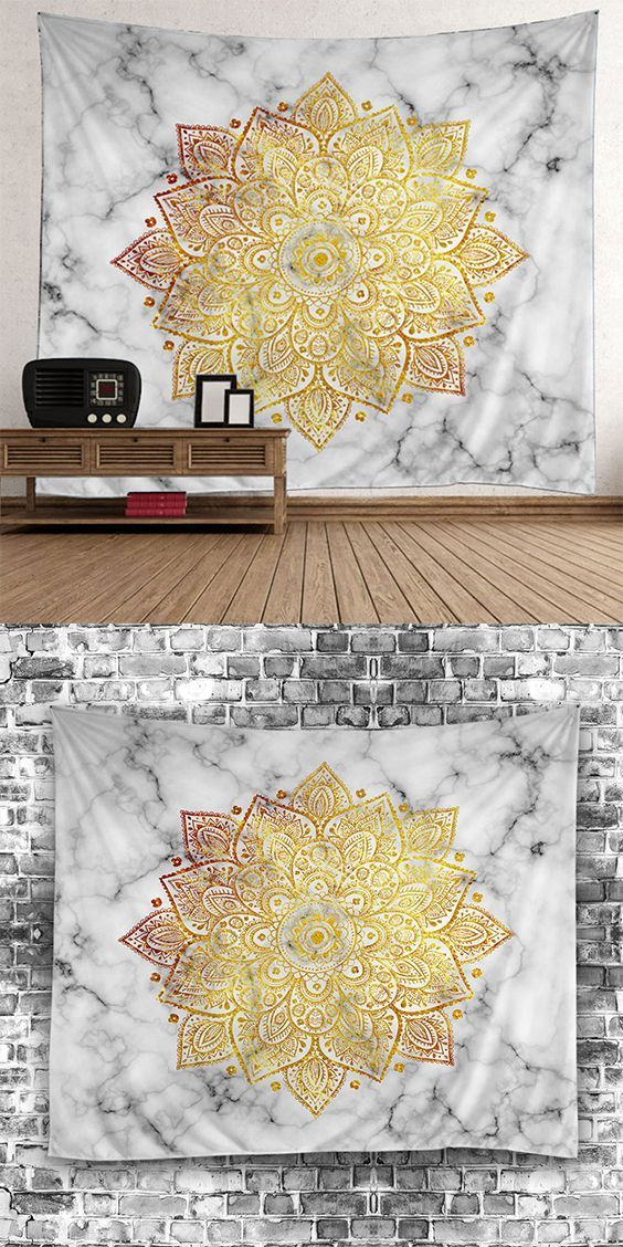 Wall Art Flower Print Tapestry | Decorative items, Country decor and ...