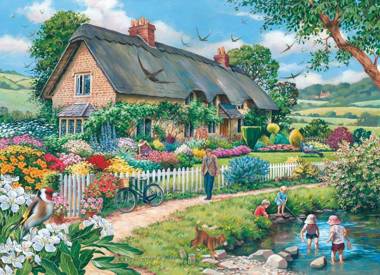 """""""Lazy Days"""" by Keith Stapleton Charming Cottages"""