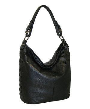 686cd8571a4ec0 Loving this Nino Bossi Handbags Black Boca Bucket Bag on  zulily!   zulilyfinds