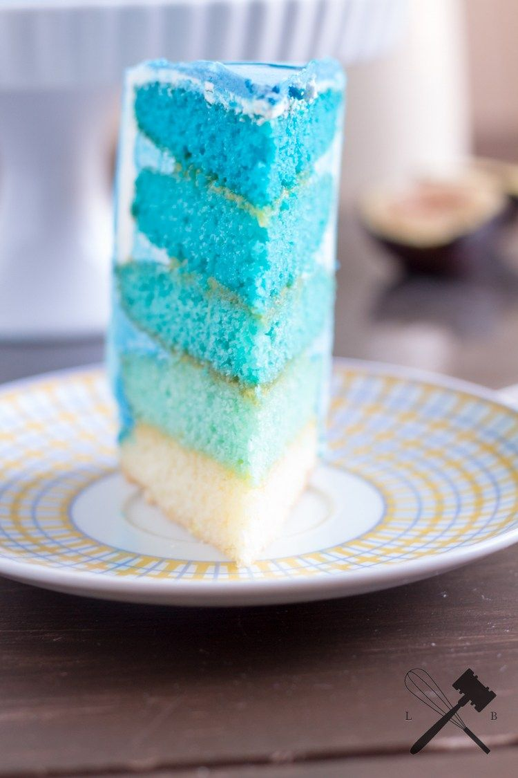 Blue Ombre Cake - Nicht nur Haare können Ombre! - Law of