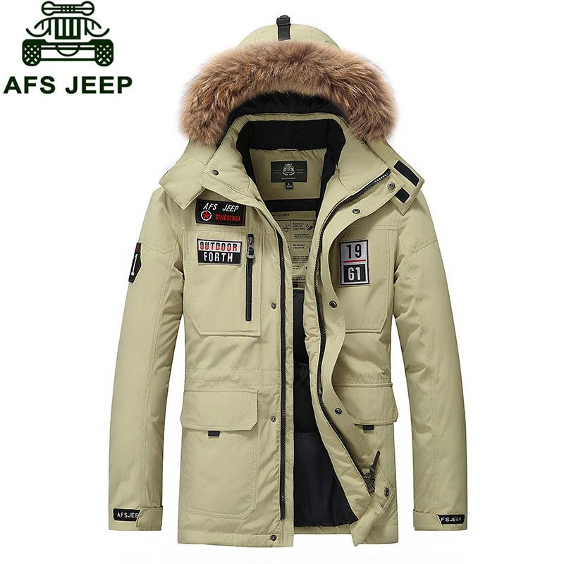 2016 Brand Clothing Long Duck Down Jacket Coat men Winter