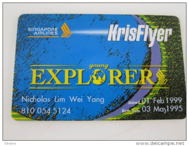 Singapore Airlines | Kris Flyer Young Explorer card