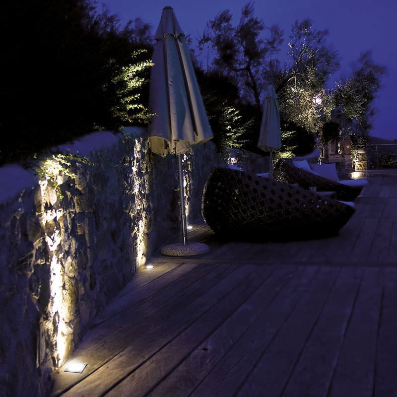 clairage d 39 ext rieur encastr au sol pour jardin led geo 12 r dga lumiere exterieure. Black Bedroom Furniture Sets. Home Design Ideas