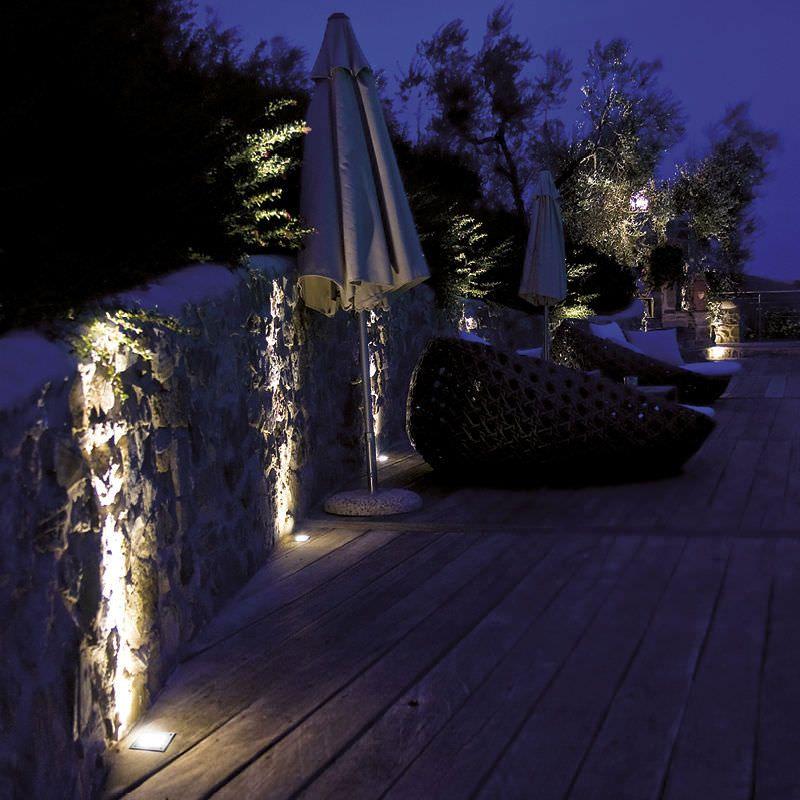 eclairage exterieur encastre sol jardin