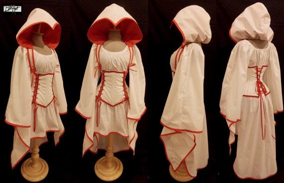 Custom Size  ASSASSIN White and Red AddaHood by loriann37 on Etsy, $299.99