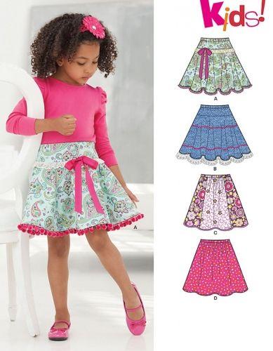 New Look 6258 New Look 6258 Differentes Jupes Pour Enfants Tailles 3 A 12 Ans Modele De Coutures Pour Enfant Jupes Petite Fille Jupe Corolle