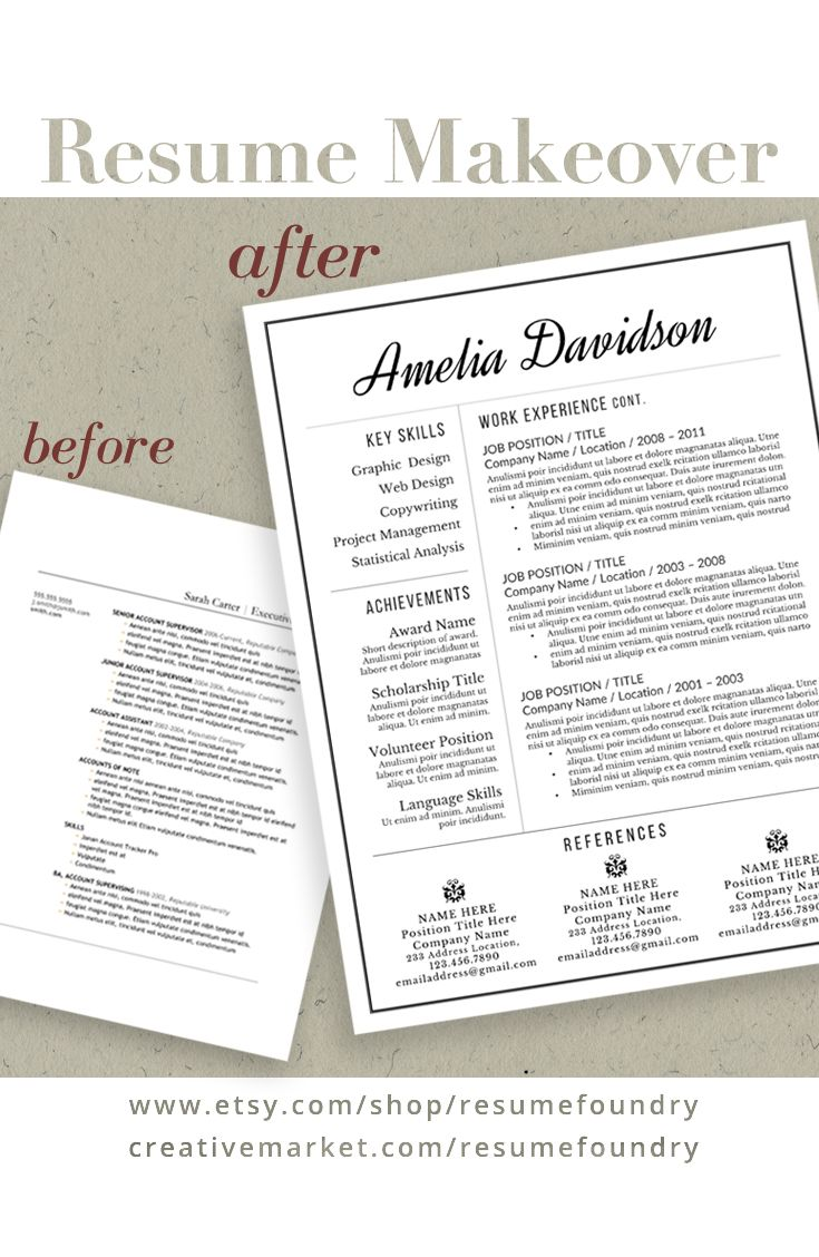 RESUME MAKEOVER. Save Yourself Time And Use A Professionally Designed  Resume Template By Resume Foundry. We Are Here To Assist You With Any  Questions You ...