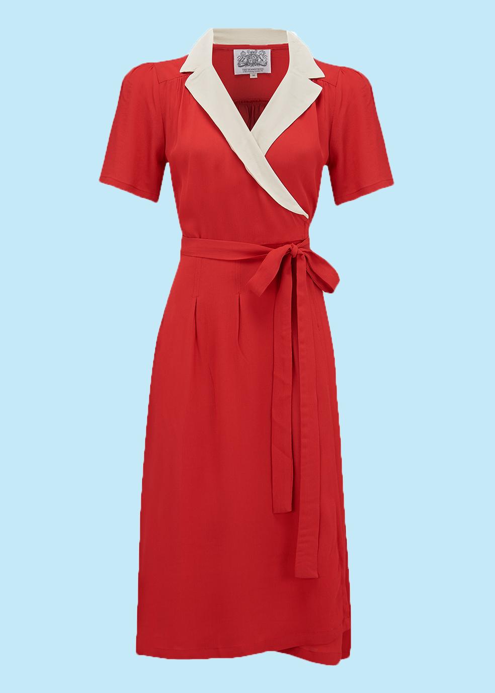 5d8095ec Flot slå om kjole i 1940er / 1950er snit | tøj i 2019 | Kjoler ...