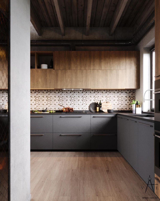 D coration industrielle chaleureuse pour ce magnifique - Refaire sa cuisine rustique en moderne ...