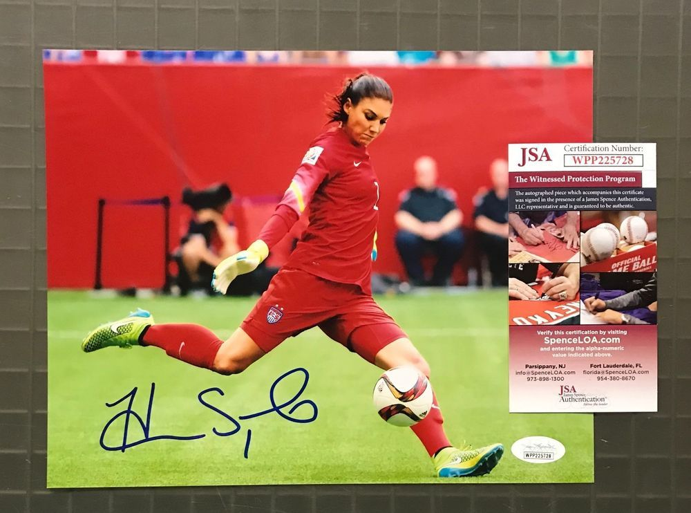 641a11a987a Hope Solo Signed 8x10 Soccer Photo Autographed AUTO JSA WITNESSED ...