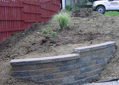 Versalock Retaining Wall Systems Wall Project Pick A Project Versa Lok Allegheny Blend Retaining Wall Outdoor Projects Yard Wall Systems