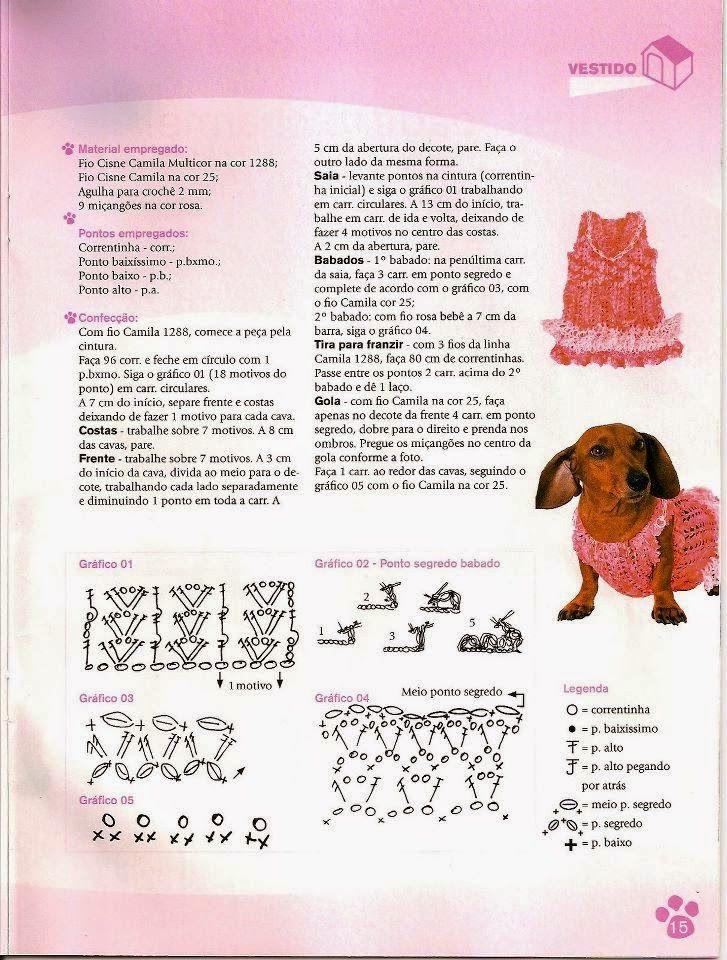 Croche e Pontos: roupas pet 8/5/15 | Capas Kila | Pinterest | Molde ...
