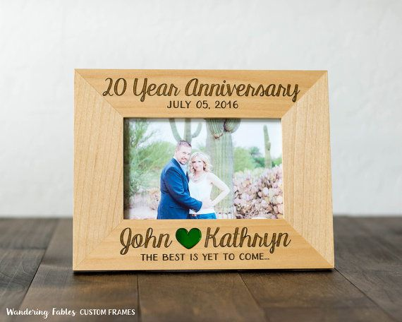 Custom Anniversary Gift Engraved 4x6 Picture Frame 20 Year Anniversary 10 Year Anniversary Wo Custom Anniversary Gift Anniversary Gifts 20 Year Anniversary