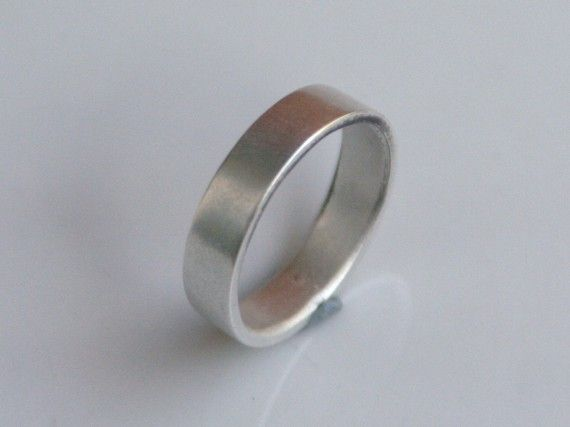 Wide Brushed Silver Ring Men S Wedding Band By Beatrizfortes 65 00