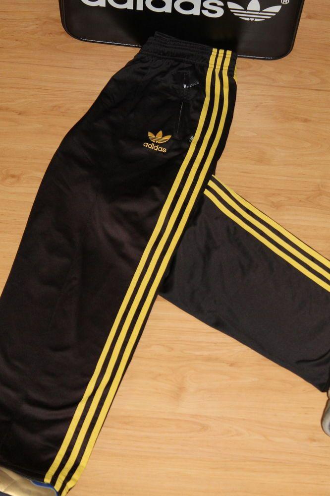 Pantalón de chandal adidas firebird 80 's vintage, retro, D5, tamaño: grande