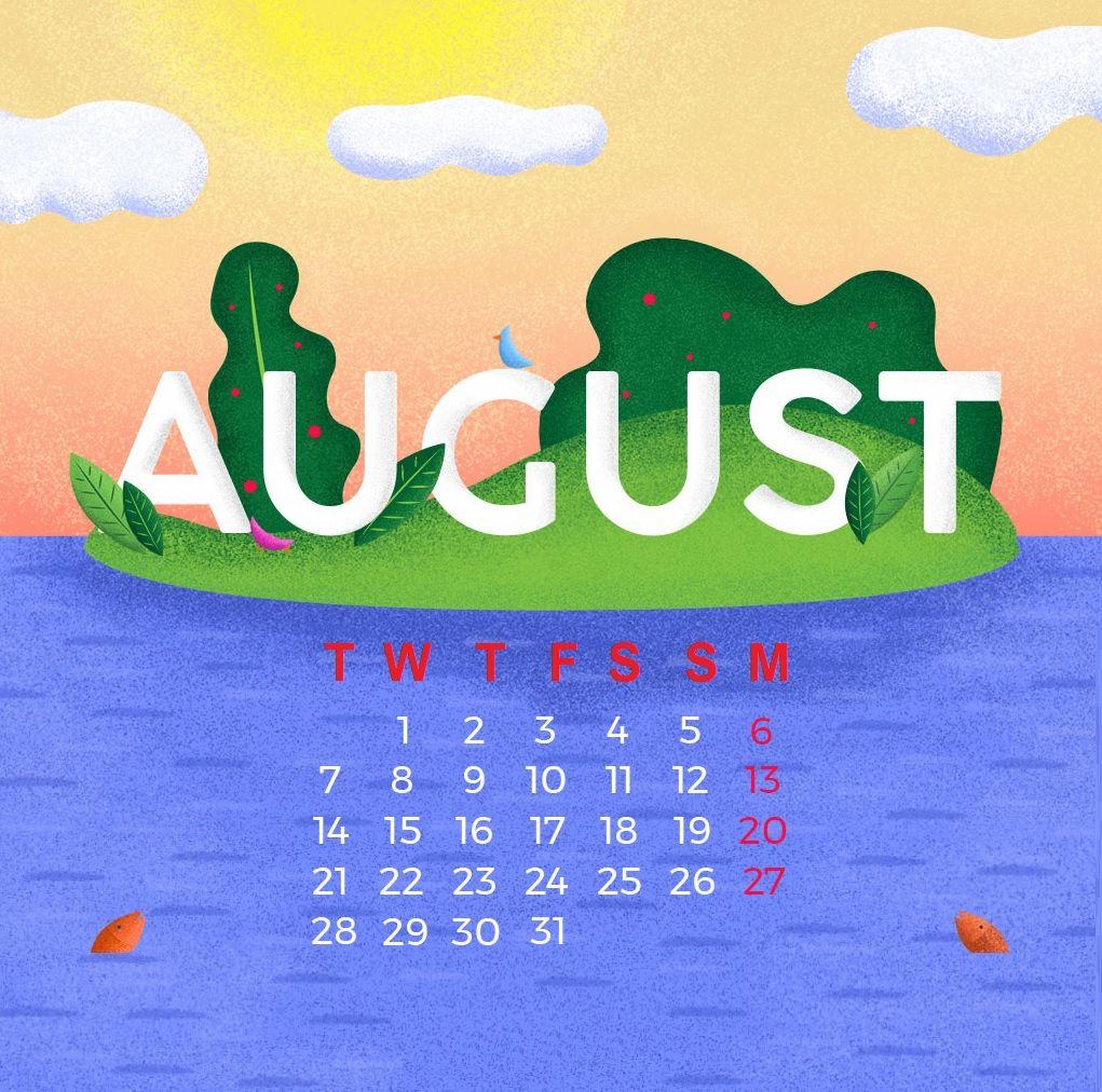 August 2018 Calendar Wallpapers Calendar wallpaper