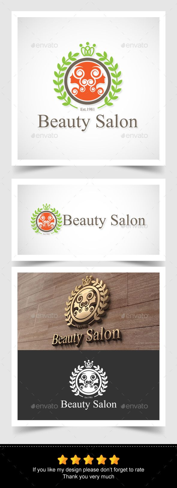 hairdresser resume%0A Beauty Salon Logo
