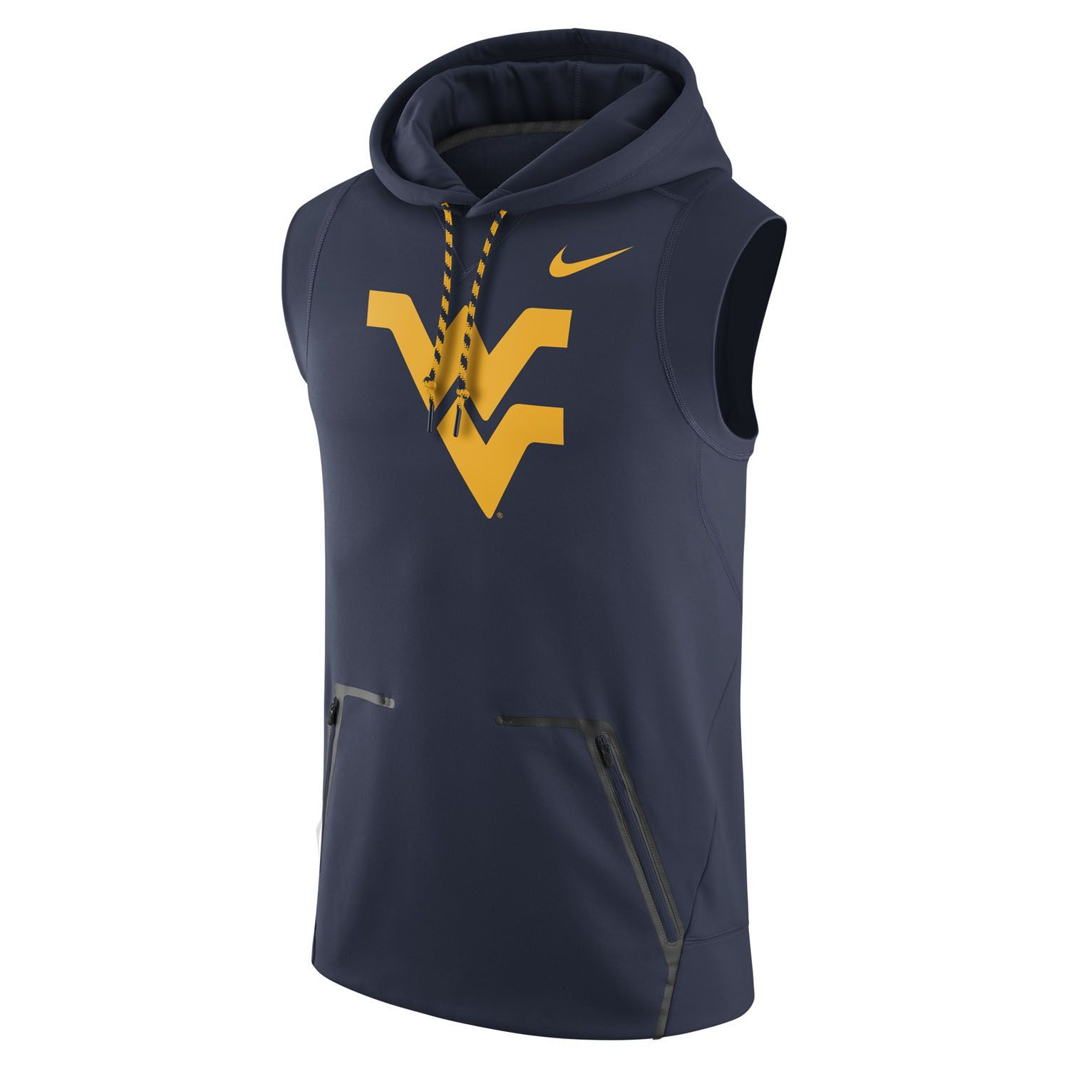 61d16d29e0cb Our Nike WVU Sleeveless Fleece Hoodie is build with the workout needs of  players and fans