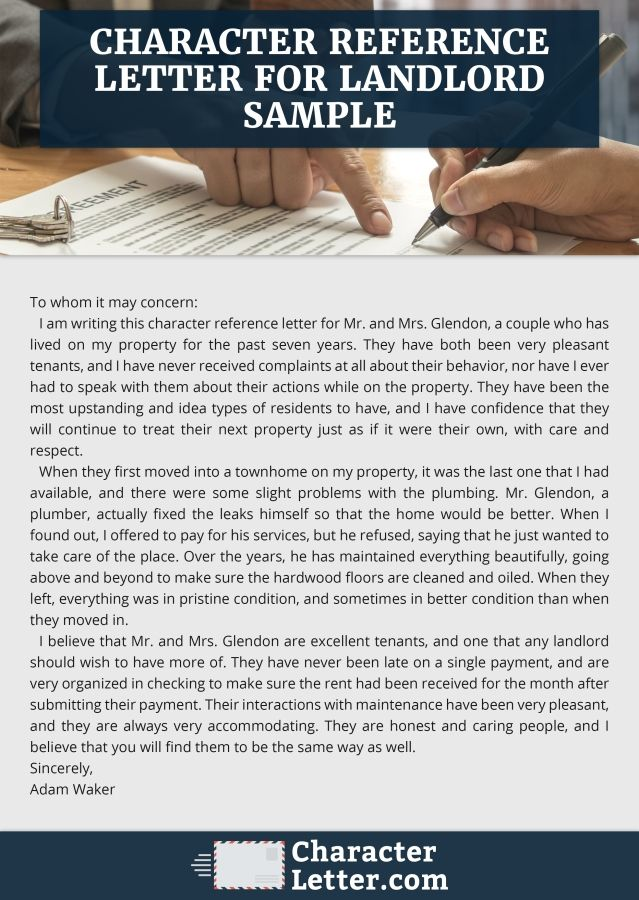 Click here to get high quality character reference letter