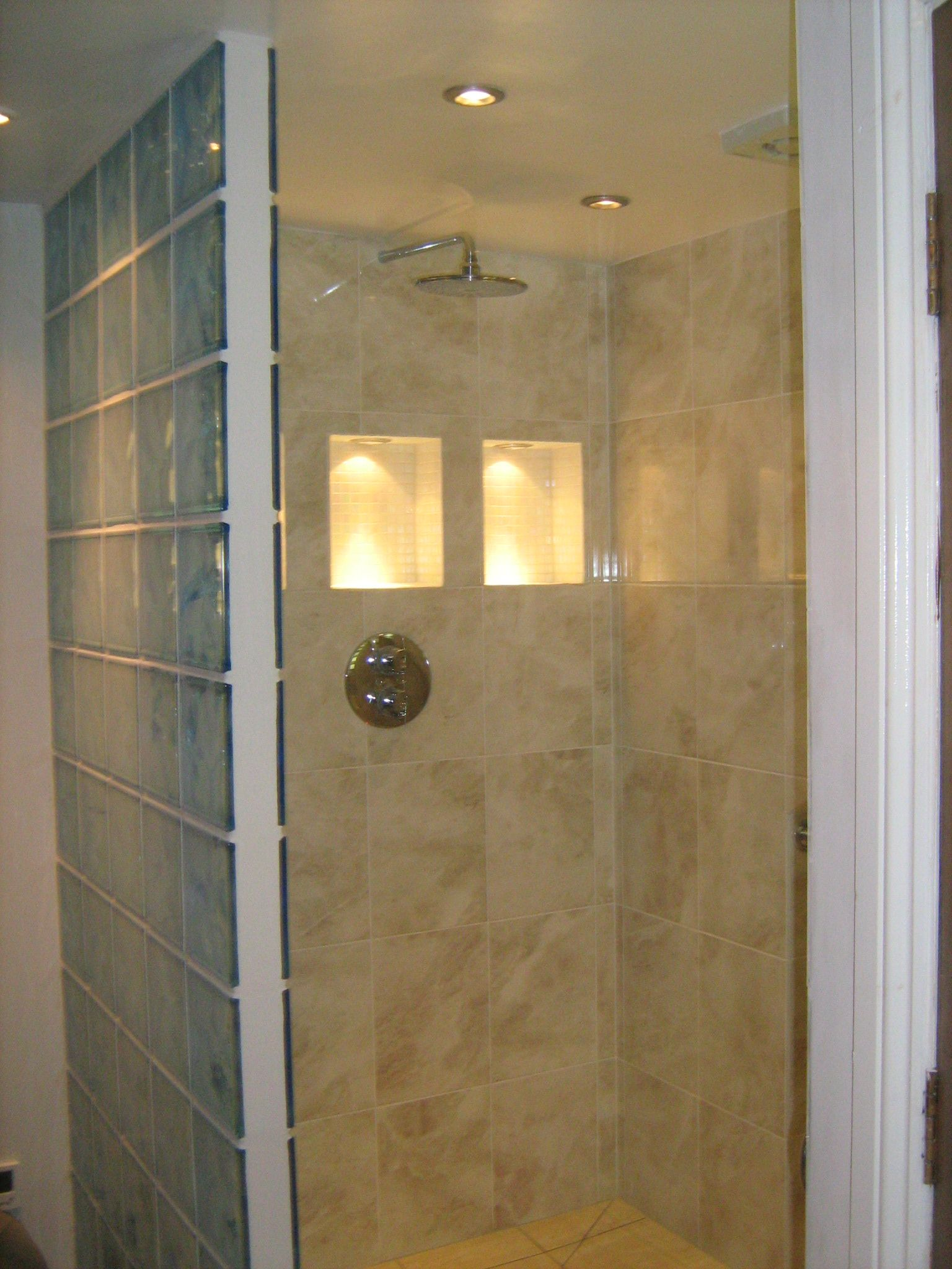 wet room | wet room | Glass block shower divider. | Poolhouse ...
