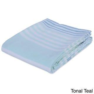 8be9577456 Berkshire Blanket Seaside Striped Acrylic Blanket (Tonal Teal