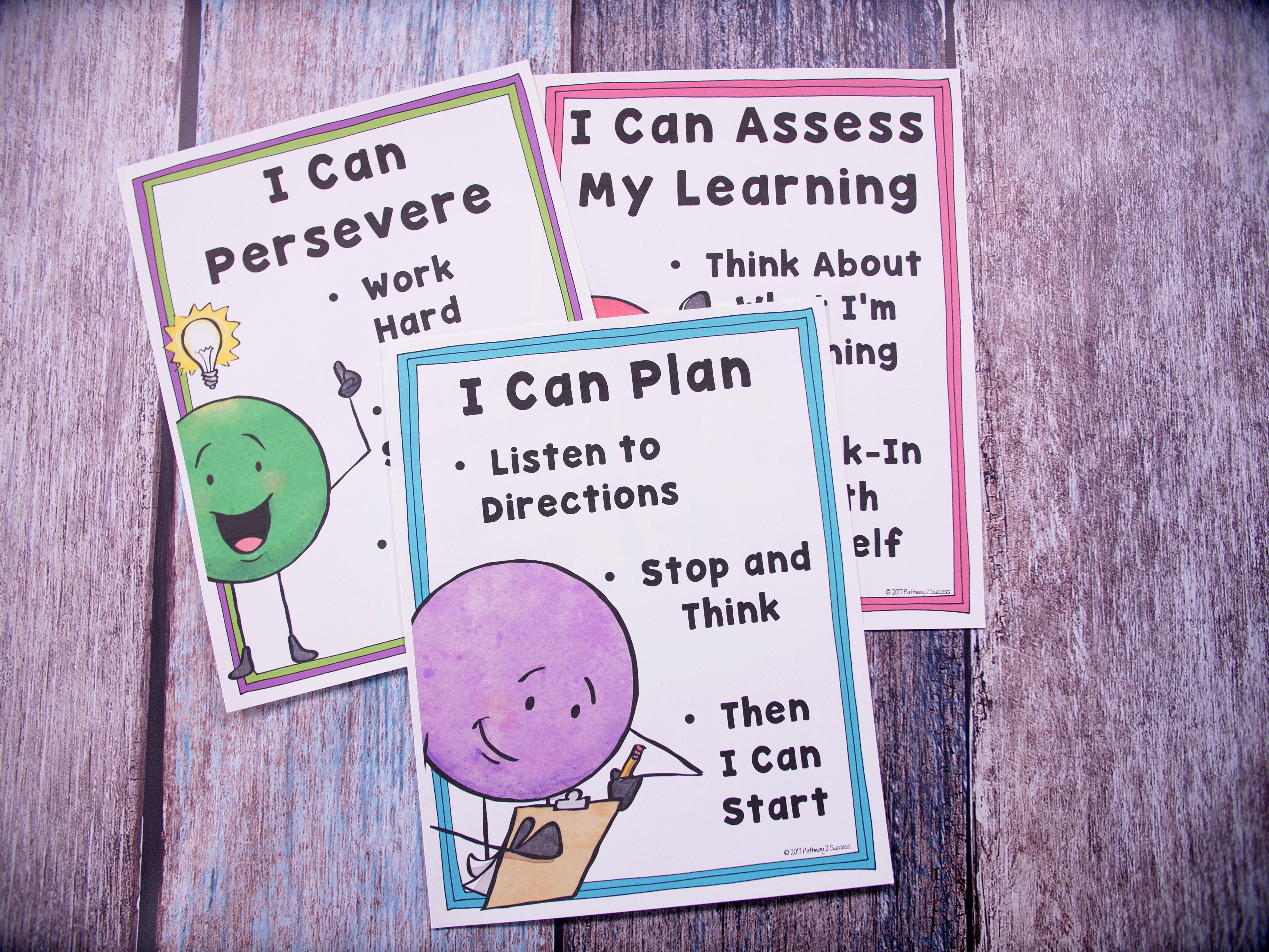 Executive Functioning Posters For Planning Organization