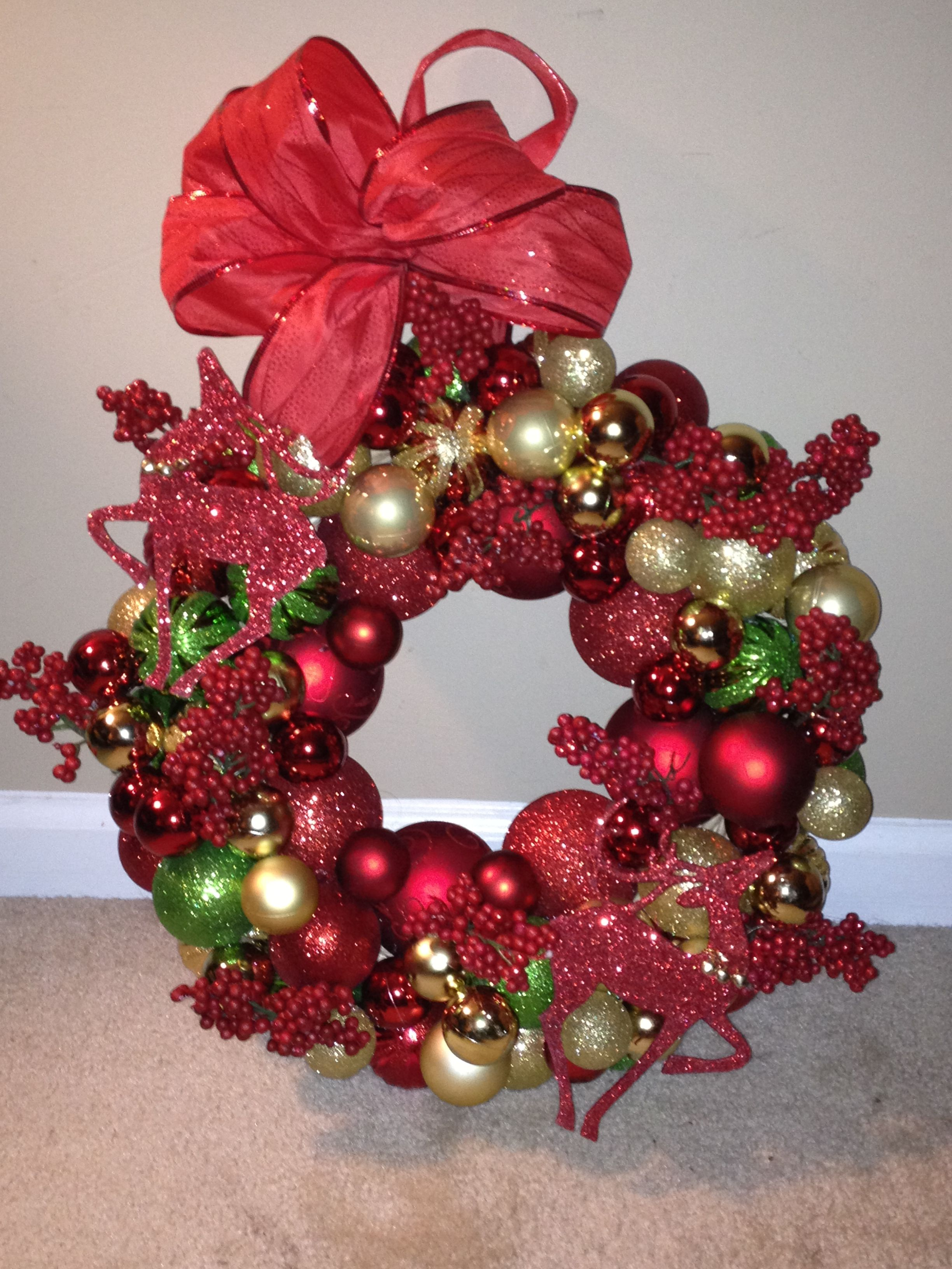 My second homemade wreath!! Bought everything from the