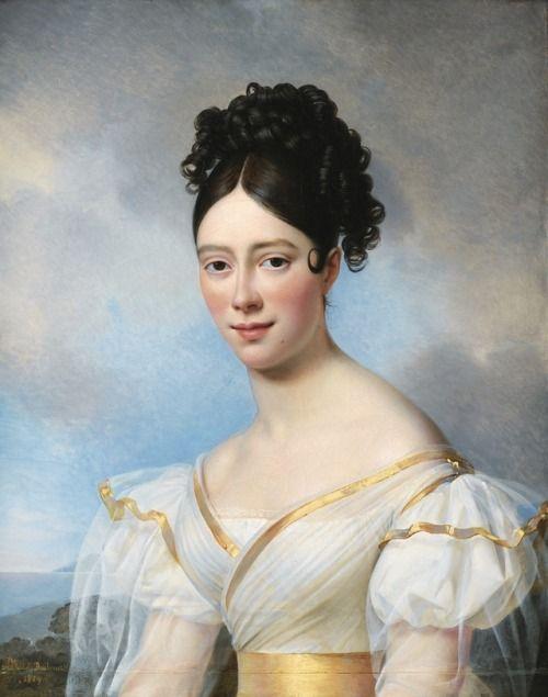 Presumed portrait of Maria Malibran, Alexandre Jean Dubois - what is presumed
